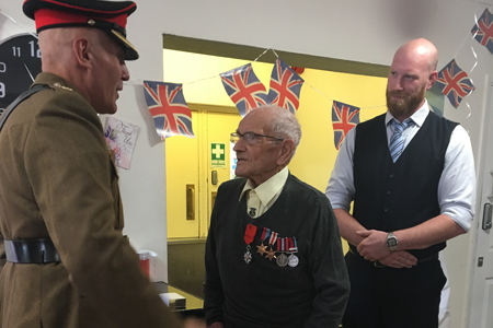 Resident honoured with war medal