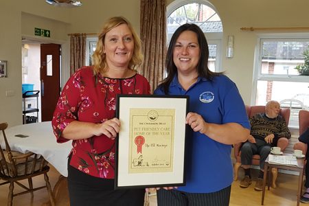 Pet friendly care home of the year