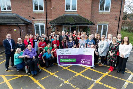 Staff and residents celebrate rating