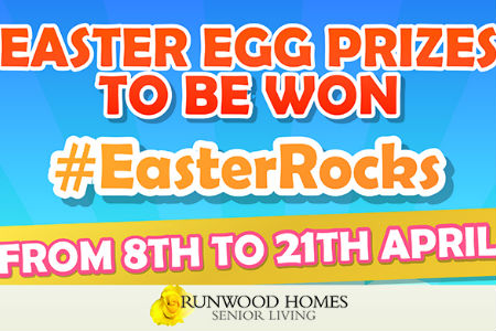 Easter rocks at Runwood Homes