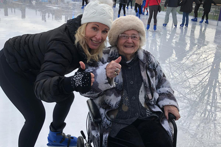 Residents enjoy an 'ice' day out