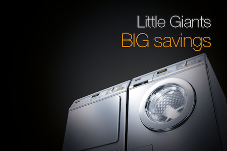 Miele offers big savings on Little Giant washing machines